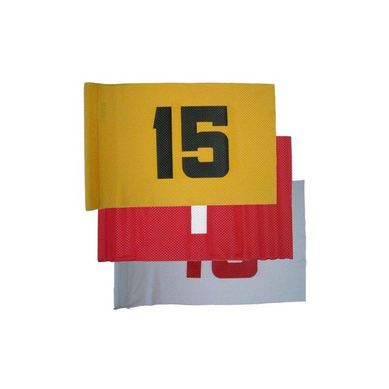 Banderas viento numeradas